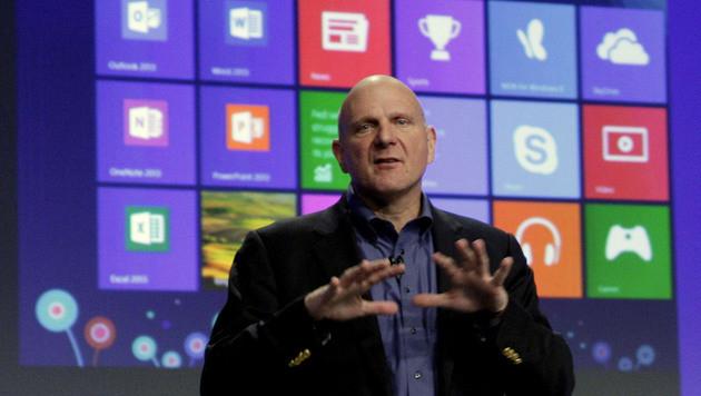 Microsoft-Chef Steve Ballmer kündigt Rücktritt an (Bild: AP)