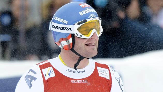 Svindal gewinnt Super-G vor ÖSV-Youngster Mayer (Bild: APA/HERBERT NEUBAUER)