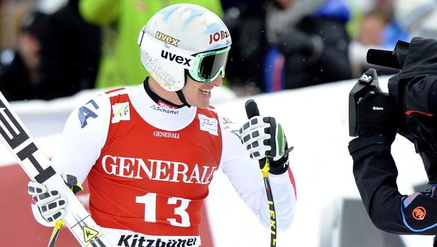 Svindal gewinnt Super-G vor ÖSV-Youngster Mayer (Bild: EPA)