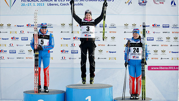 Teresa Stadlober holt bei Jugend-WM Gold im Skiathlon (Bild: Tomislav Mesic)