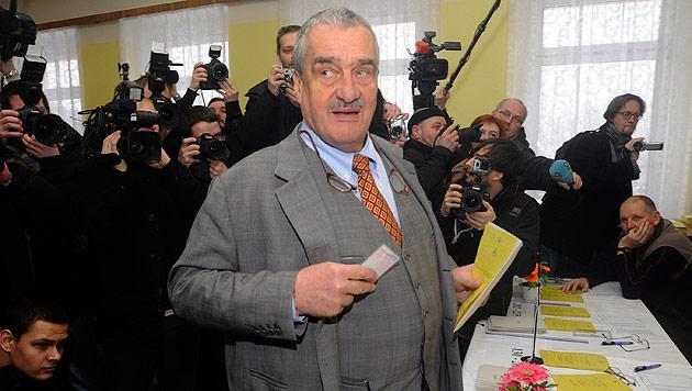 Zeman erster direkt gew�hlter Pr�sident Tschechiens (Bild: dapd)
