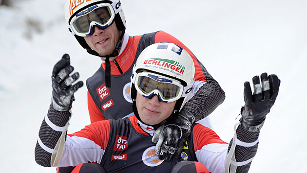 Österreich holt im Doppelsitzer Silber und Bronze (Bild: APA/Robert Parigger)