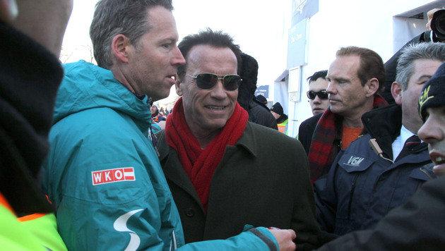 """Schwarzenegger in Kitzbühel: """"Lustig und spannend"""" (Bild: KRISTIAN BISSUTI)"""