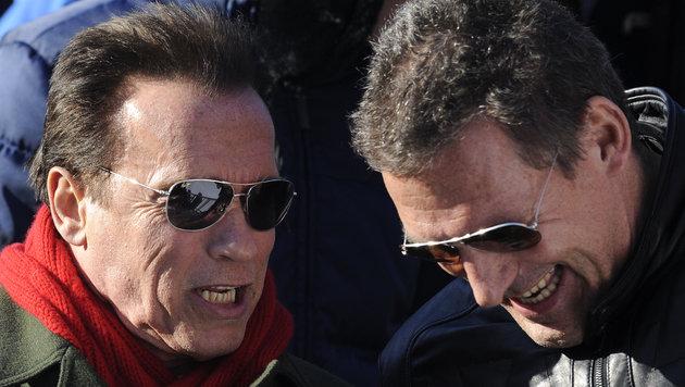 """Schwarzenegger in Kitzbühel: """"Lustig und spannend"""" (Bild: APA/HERBERT NEUBAUER)"""