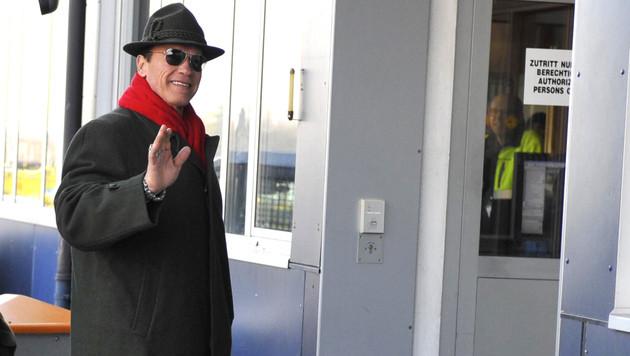 """Schwarzenegger in Kitzbühel: """"Lustig und spannend"""" (Bild: APA/Zeitungsfoto.at)"""