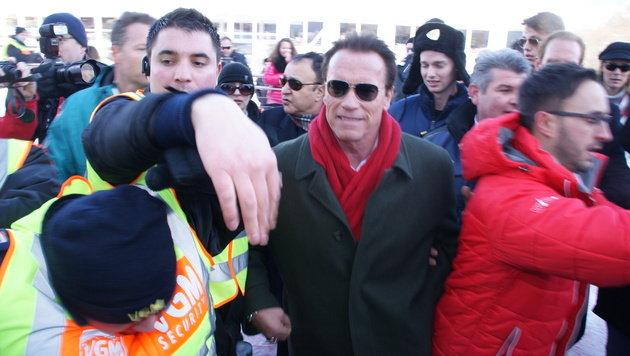 "Schwarzenegger in Kitzbühel: ""Lustig und spannend"" (Bild: Samuel Thurner)"