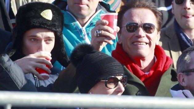 """Schwarzenegger in Kitzbühel: """"Lustig und spannend"""" (Bild: Gerhard Gradwohl)"""