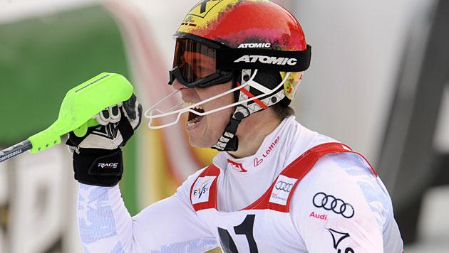 Hirscher gewinnt Slalom, Kostelic holt Kombi-Wertung (Bild: dapd)