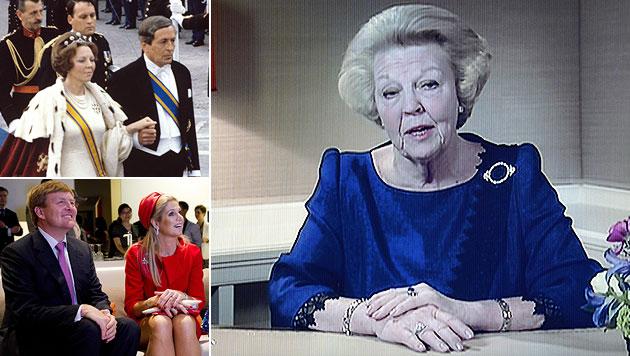 NL: Königin Beatrix dankt nach 33 Jahren ab (Bild: EPA, dpa)