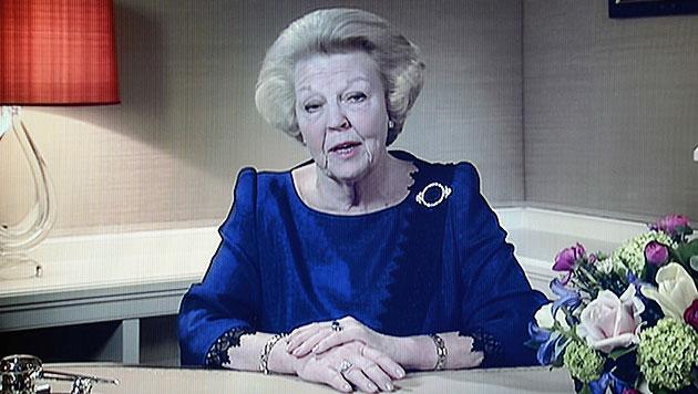 NL: Königin Beatrix dankt nach 33 Jahren ab (Bild: EPA)