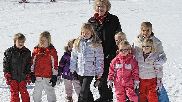 Niederländische Königsfamilie heuer wieder in Lech (Bild: AP)