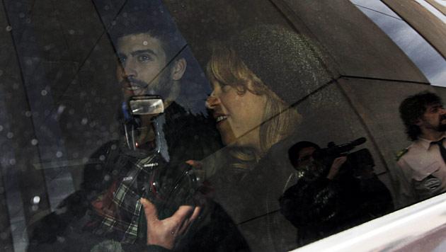 Shakira hat mit Baby Milan das Spital verlassen (Bild: dapd)