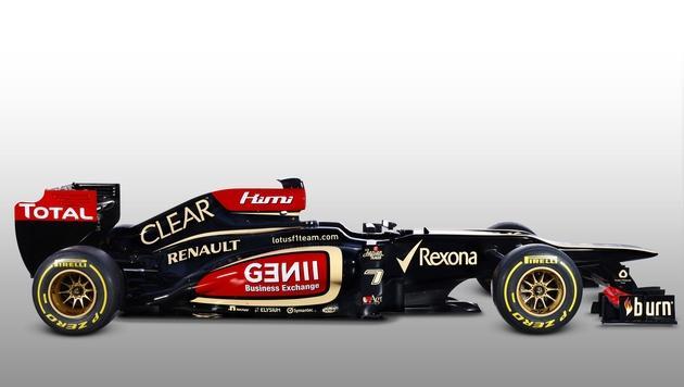 So sieht der neue Formel-1-Bolide von Lotus aus (Bild: AFP PHOTO/LOTUS FORMULA ONE TEAM/ PETER SPINNEY)