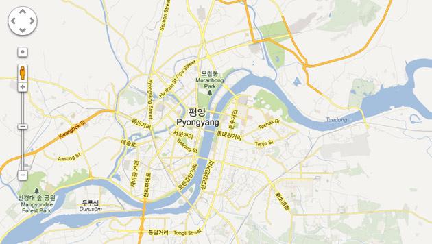 Google Maps zeigt detaillierte Karte von Nordkorea (Bild: Screenshot Google)