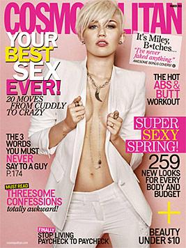Sexy Miley Cyrus zeigt auf Magazin-Cover viel Haut (Bild: Cosmopolitan)
