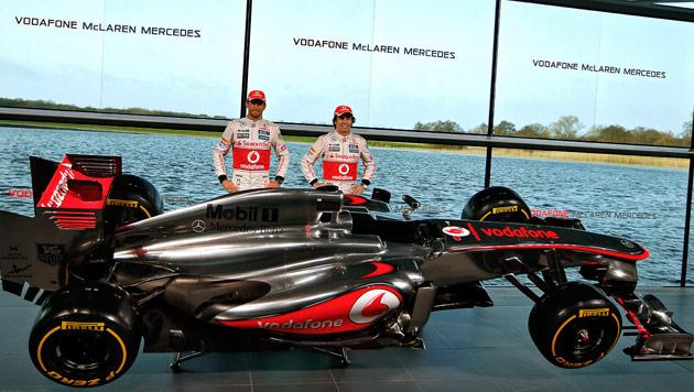 Das ist das neue Formel-1-Rennauto von McLaren (Bild: EPA)