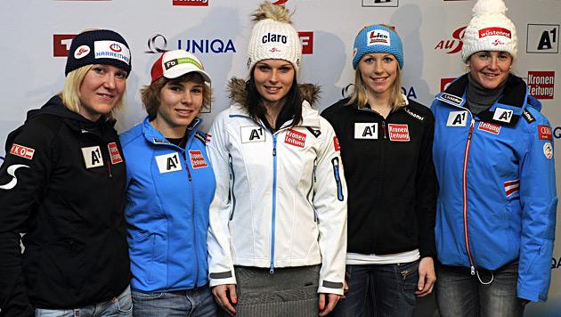 Schmidhofer, Sterz und Fischbacher im Super-G dabei (Bild: APA/Robert Parigger)