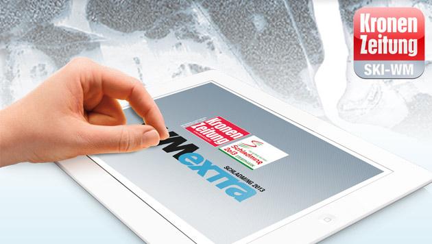 Hol dir die Ski-WM in Schladming auf dein iPad! (Bild: Krone.at)