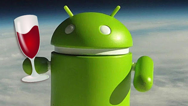 Windows-Software läuft bald auch auf Android-Handys (Bild: Google, WineHQ, krone.at-Grafik)