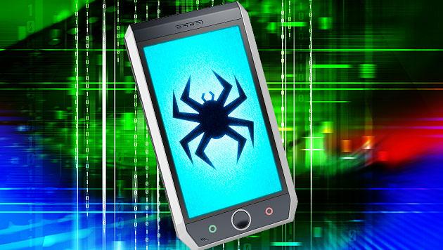 Android-Virus lauscht auf abgeschalteten Handys (Bild: thinkstockphotos.de, krone.at-Grafik)