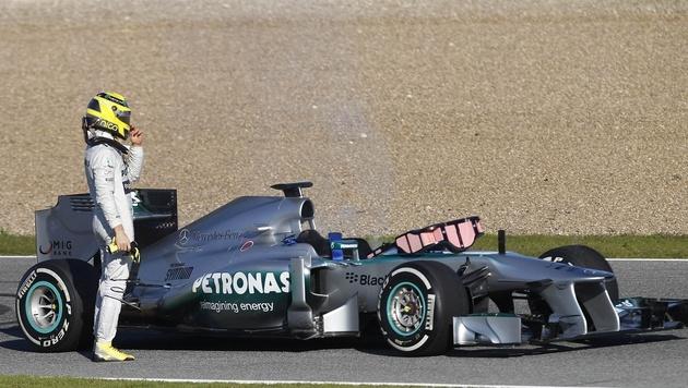 Vielversprechender Start von Webber, nur Button schneller (Bild: AP)