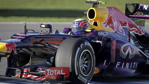 Vielversprechender Start von Webber, nur Button schneller (Bild: EPA)
