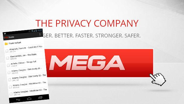 Kim Dotcoms Mega jetzt auch auf dem Smartphone (Bild: Screenshot Mega.co.nz, Google Play, krone.at-Grafik)