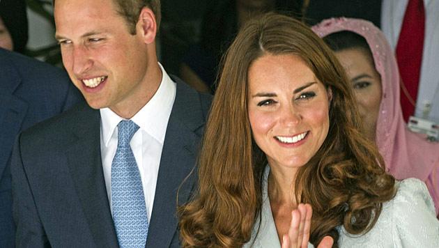 Schwangere Kate erholt sich mit William in Karibik (Bild: EPA)