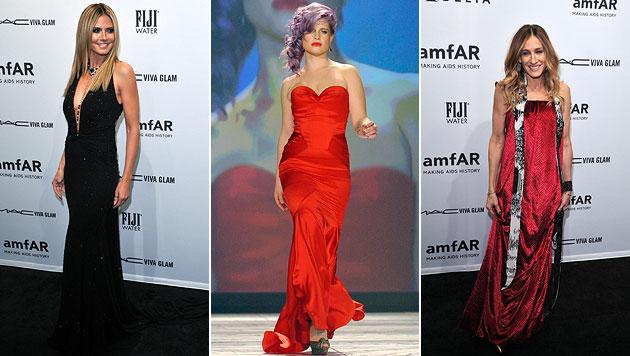 Fashion Week in New York mit vielen Promis eröffnet (Bild: EPA)