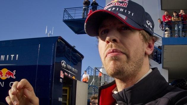 Titelverteidiger Vettel bei Test in Jerez auf Platz drei (Bild: AP)