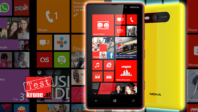 Nokia Lumia 820: Windows-Handy mit kleinen Macken (Bild: Nokia, krone.at-Grafik)