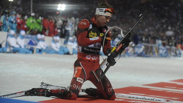 Svendsen holt im Sprint sein neuntes WM-Gold (Bild: EPA)