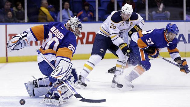 Thomas Vanek setzt seine Festspiele in der NHL fort (Bild: AP)
