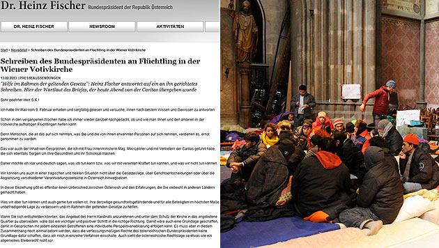 Nach Fischer-Brief: Flüchtlinge nun zu Gesprächen bereit (Bild: bundespräsident.at, APA/Herbert P. Ozceret)