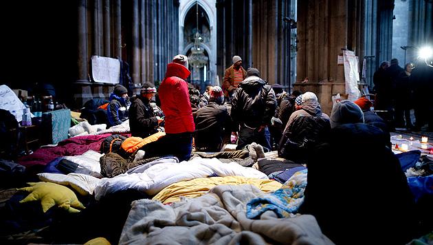 Nach Fischer-Brief: Flüchtlinge nun zu Gesprächen bereit (Bild: APA/GEORG HOCHMUTH)