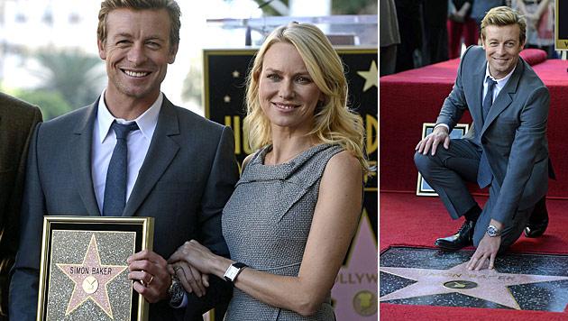 """""""Mentalist"""" Simon Baker erhielt Stern am """"Walk of Fame"""" (Bild: EPA)"""