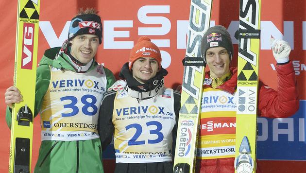 Schlierenzauer beim Skifliegen in Oberstdorf Dritter (Bild: AP)