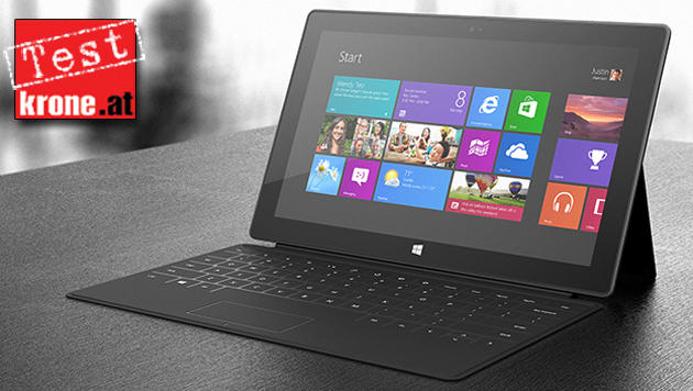 Surface RT im Test: Starke Hardware, leerer App-Store (Bild: Microsoft, krone.at-Grafik)