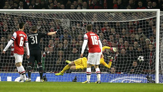 FC Bayern siegt bei Arsenal 3:1, Porto schl�gt Malaga 1:0 (Bild: AP)