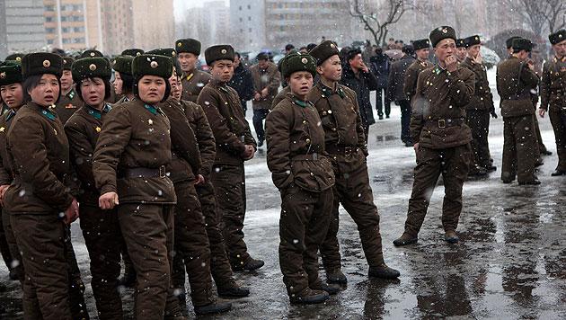 Nordkorea droht S�dkorea mit Vernichtung (Bild: AP)