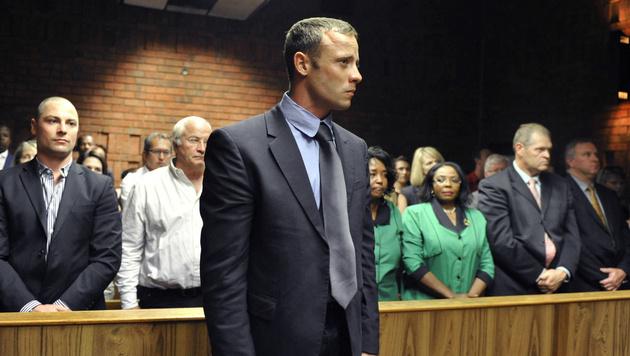 """Pistorius bestreitet Mordvorwurf """"auf das Sch�rfste"""" (Bild: AP)"""