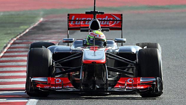 McLaren-Neuling Perez am 2. Testtag in Montmelo voran (Bild: EPA)