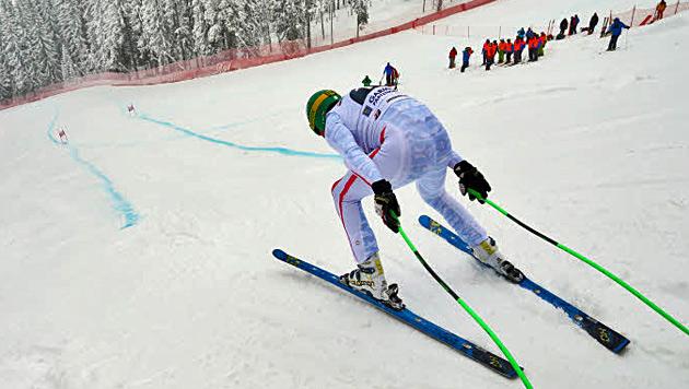 ÖSV-Abfahrer auf verkürzter Strecke in Garmisch stark (Bild: Christof Birbaumer)