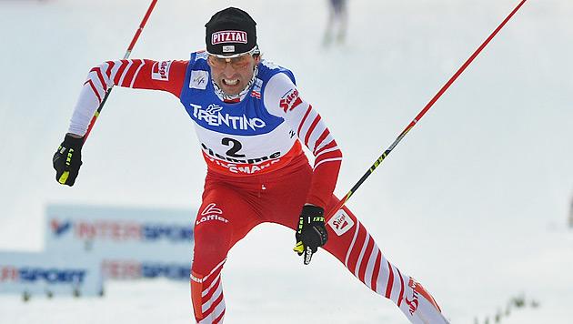 Mario Stecher holt bei WM im Val di Fiemme Silber (Bild: APA/BARBARA GINDL)