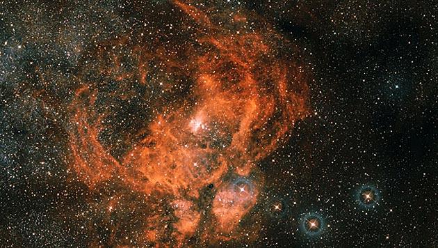 """VISTA macht Foto von """"kosmischem Hummer"""" (Bild: ESA/ESO)"""