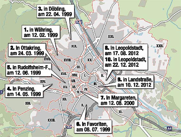 10 Tatorte, 1 T�ter: Wiener Supermarkt-Schreck in Haft (Bild: Krone)