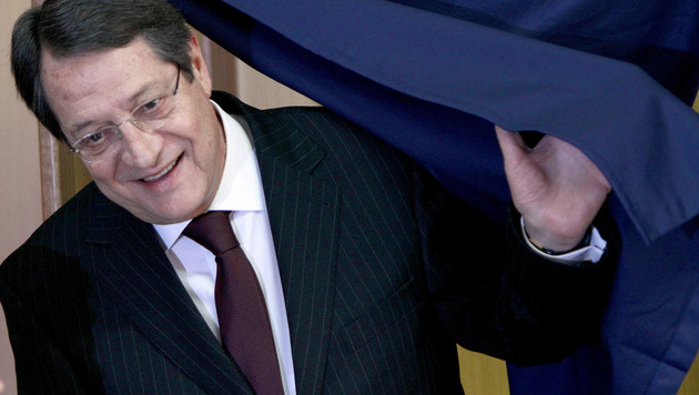 Anastasiades zum neuen Pr�sidenten von Zypern gew�hlt (Bild: AP)