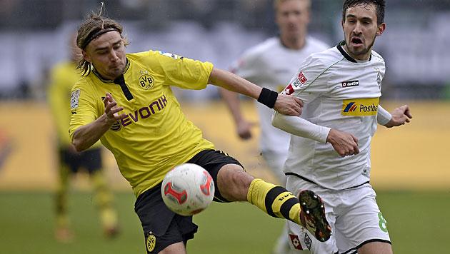 Dortmund gelingt in M�nchengladbach nur ein 1:1 (Bild: AP)