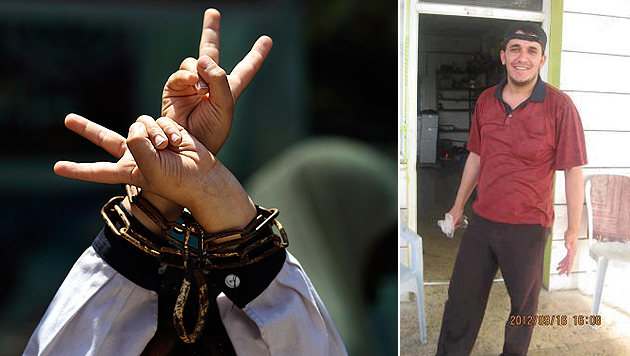 """Hungerstreik-Welle in Gefängnissen ++ """"Es war Folter"""" (Bild: Palsolidarity.org, EPA)"""