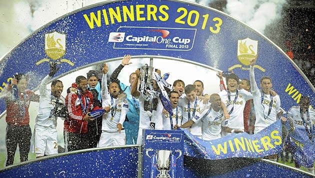 Swansea City holt sich den englischen Liga-Cup (Bild: EPA)